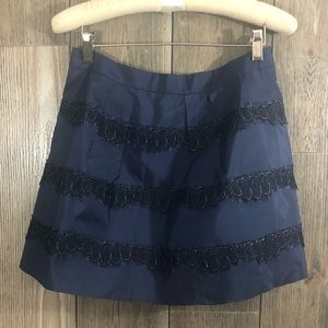 J Crew Sill and Lace Skirt